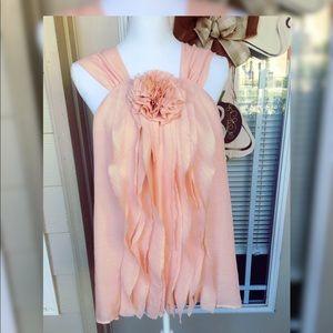Blush Pink Flower Top by Loft